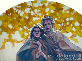 WEATHERING AUTUMN, by Rose Datoc Dall, oil on canvas, 36x48, 2011, not for sale