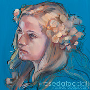 CROWN OF VIRTUE, by Rose Datoc Dall, oil on canvas, 12x12, 2013, SOLD