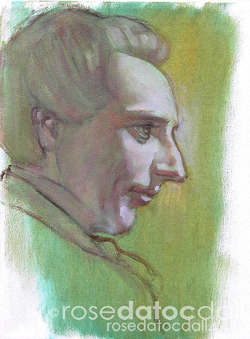 STUDY OF JOSEPH 1, by Rose Datoc Dall, oil on canvas, 9x12, 2005, available for purchase