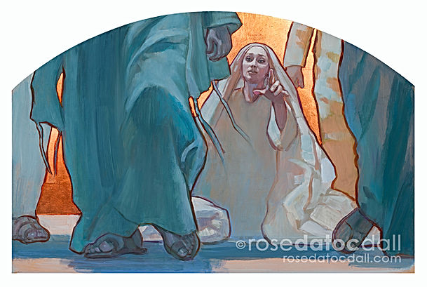 WOMAN OF FAITH (COPPER) by Rose Datoc Da