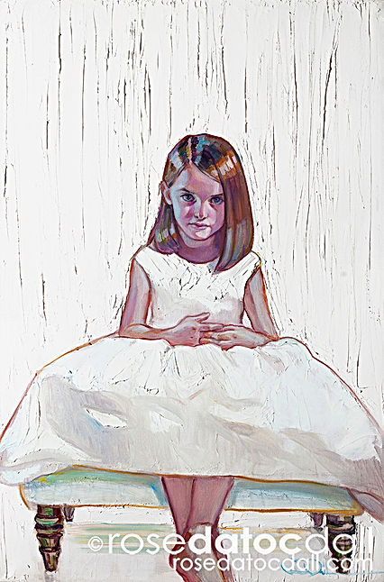 Kate in White by Rose Datoc Dall