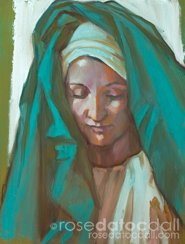 STUDY OF ELISABETH, by Rose Datoc Dall, oil on canvas, 9x12, 2013, SOLD