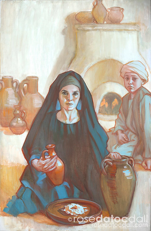 Widow of Zarephath, by Rose Datoc Dall 16x24 Signed Limited Edition Print