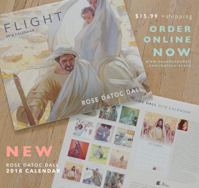 Rose Datoc Dall 2018 Calendar