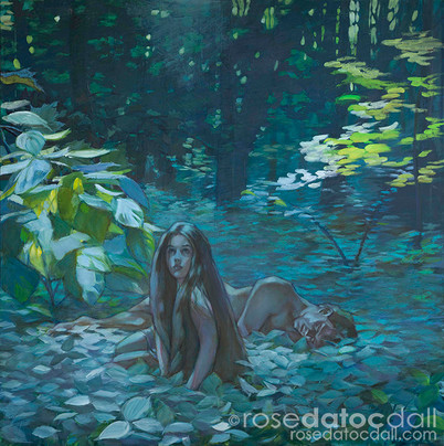 CREATION OF EVE, by Rose Datoc Dall, oil on canvas, 42x42, 2002, not for sale