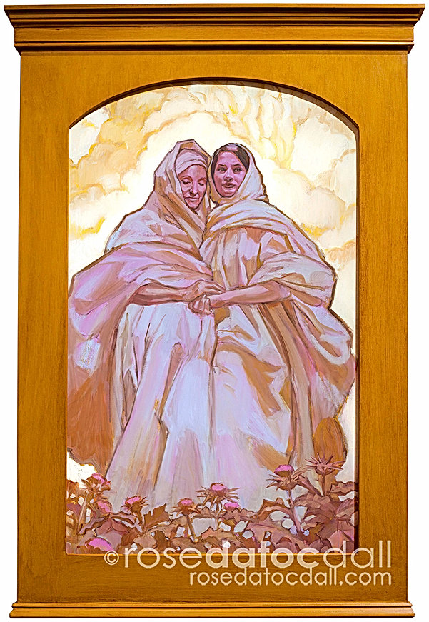 Mary and Elisabeth by Rose Datoc Dall
