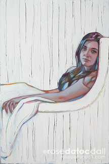 MILLER PORTRAIT 2, by Rose Datoc Dall, oil on canvas, 20x30, 2017, SOLD