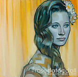 DAISY GIRL 3, by Rose Datoc Dall, oil on canvas, 12x12, 2014, available for purchase