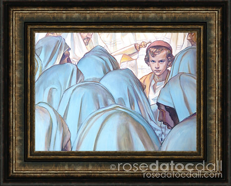 About His Father's Business, by Rose Datoc Dall, 20x15, 28x22 frame