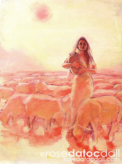 RACHEL, by Rose Datoc Dall, oil on canvas, 16x20, 2002, not for sale