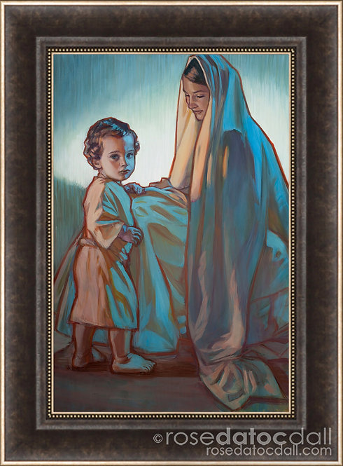 Hope of Israel, by Rose Datoc Dall, 14.5x22.5, 22x29 frame