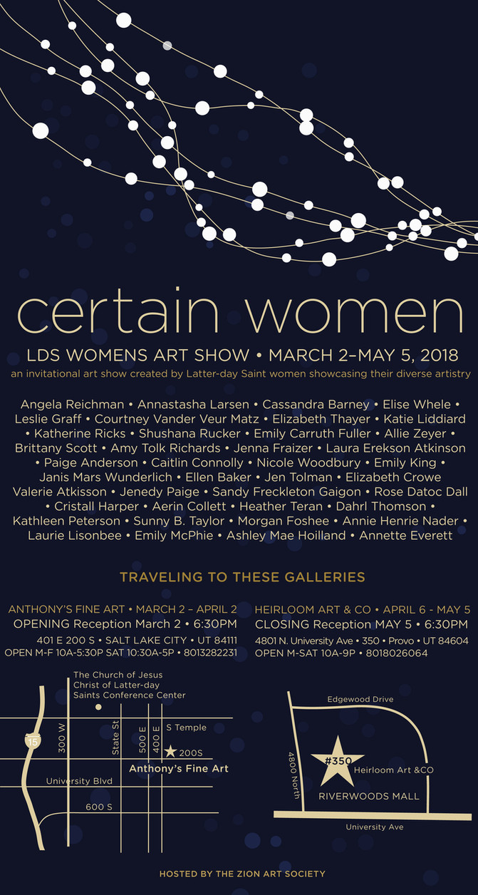 Certain Women Exhibition, March 2 - May 5, 2018, Anthony's Fine Art & Heirloom Art & Co.