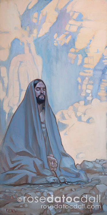 Fasting in the WIlderness, by Rose Datoc Dall, 21x42 Signed Ltd Edition Print