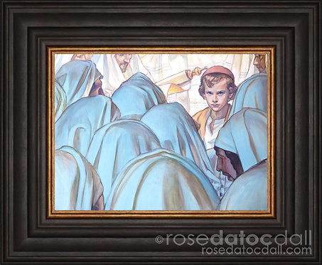 About His Father's Business, Rose Datoc Dall, 10x14, 21x17 frame