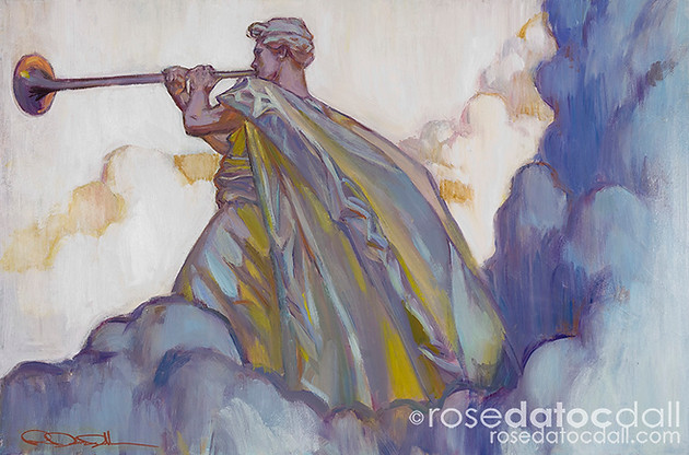 CLARION CALL, by Rose Datoc Dall, 24x36, oil on canvas, 2010, SOLD