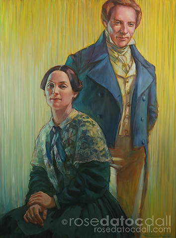JOSPEH AND EMMA, by Rose Datoc Dall, oil on canvas, 36x48, 2005, not for sale
