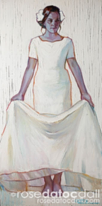 HAYLEY IN WHITE by Rose Datoc Dall