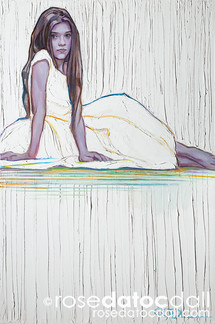 JULIA IN WHITE, by Rose Datoc Dall, oil on canvas, 20x30, 2015, SOLD
