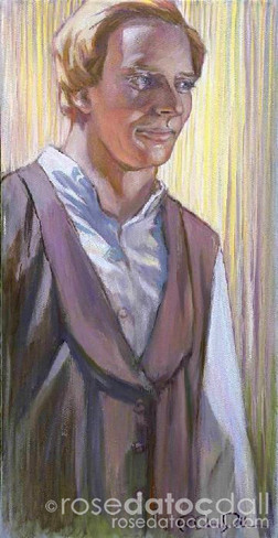 OIL STUDY OF JOSEPH SMITH, by Rose Datoc Dall, 12x24, 2005, not for sale