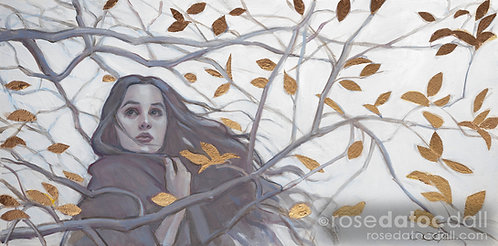 Eve in Winter by Rose Datoc Dall, 8x16 Signed Limited Ed Print Canvas