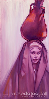 WATER CARRIER 3, by Rose Datoc Dall, oil on canvas, 12x24, available for purchase