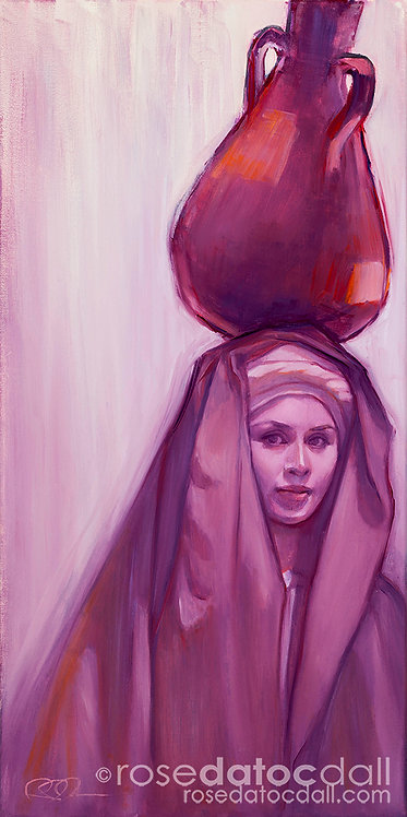 Water Carrier 3, by Rose Datoc Dall, 10x20 Signed Limited Edition Print