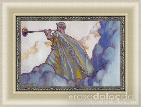 Clarion Call, by Rose Datoc Dall, 21x14, 29x22 frame