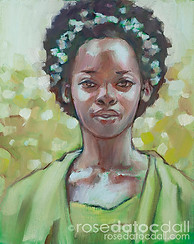 MARLENA IN GREEN, by Rose Datoc Dall, oil on canvas, 8x10, 2014, SOLD