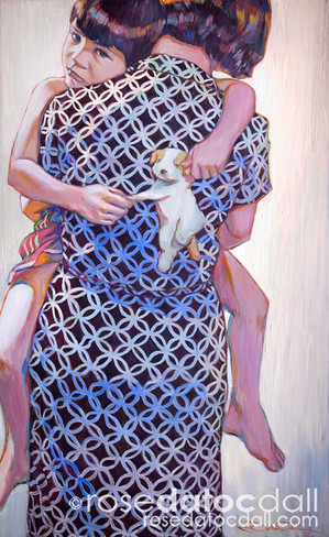 PATTERNS, by Rose Datoc Dall,  oil on canvas, 42x29.5, 2006, not for sale