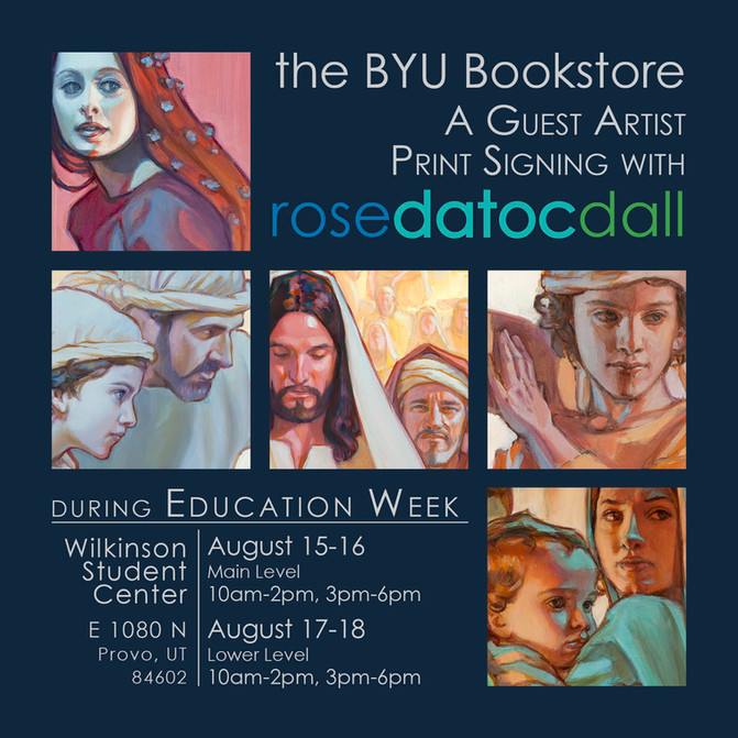 Guest Artist Signing at BYU Education Week, Aug 15-18th, 2016