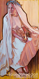 WAITING UPON THE LORD, by Rose Datoc Dall, oil on canvas, 12x24, SOLD