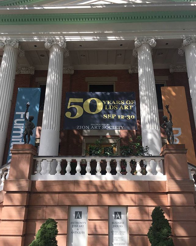 Zion Art Society Invitational Exhibition, 50 years of LDS Art, 50 years, 50 Artists, Sept 12- Oct 1,