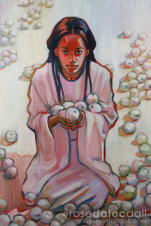 WHITE APPLE GATHERER by Rose Datoc Dall, SOLD