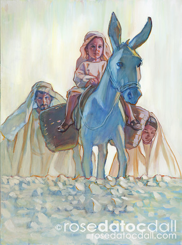 YOUNG PRINCE IN EGYPT, by Rose Datoc Dall, oil on canvas, 40x30, 2013, SOLD