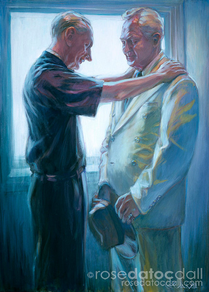BLESSING THE PROPHET, by Rose Datoc Dall, oil on canvas, 48x36, 2004, SOLD