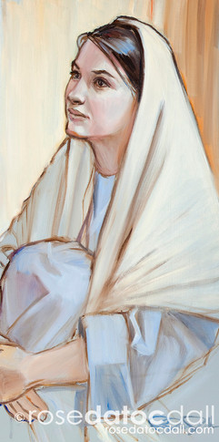 MARY PONDERETH, by Rose Datoc Dall, oil on canvas, 12x24, 2011, SOLD