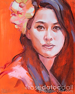 ORCHID GIRL STUDY, by Rose Datoc Dall, oil on canvas, 8x10, 2013, SOLD