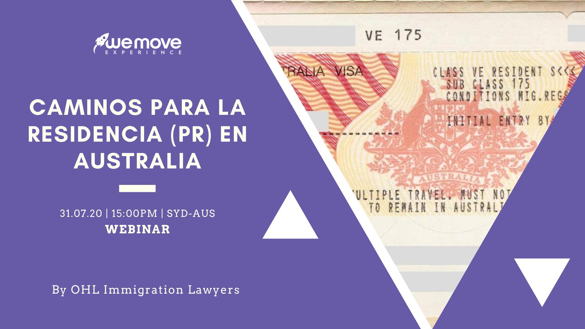 Webinar Migratorio - Caminos para la PR en Australia