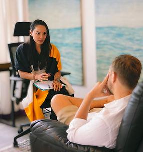 Kartika Alexandra Hypnotherapist with client.JPG