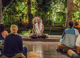 Leading meditations at Bali Usada