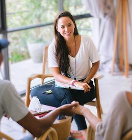 Kartika Alexandra Hypnotherapist with couple client