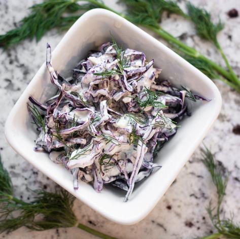 Purple Cabbage & Dill Slaw