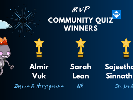 Winners of the MVP Community Quiz