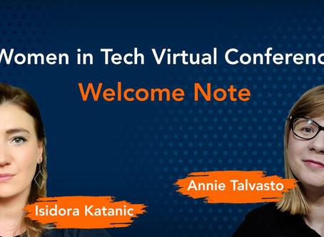 Women in Tech Virtual Conference 2020 - thank you!