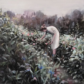 picking flowers 60x60 cm