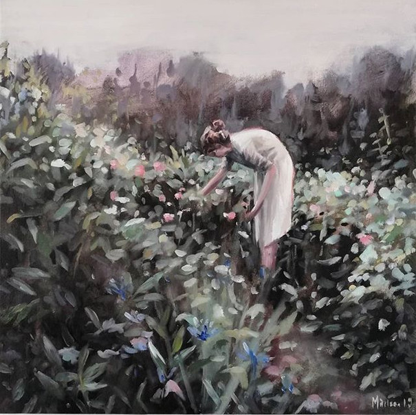 picking flowers 60x60 cm