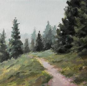 foggy forest 24x30 cm