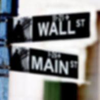 Wall street and main street intersection