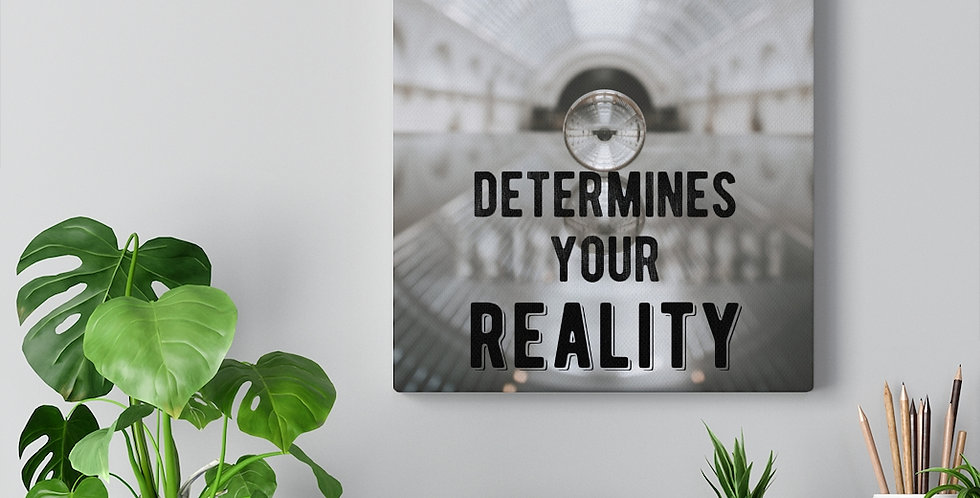 Your focus determines your reality. Bold and inspiring motivational canvas prints