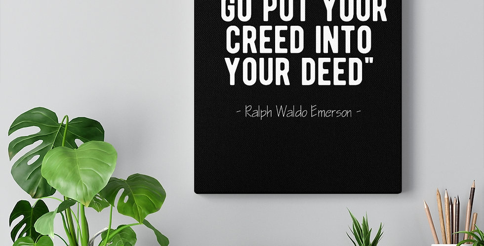 Ralph Waldo Emerson. Bold and inspiring motivational canvas prints